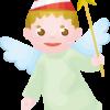笑顔があどけないクリスマス天使のイラスト