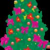 カラフルなクリスマスツリーのイラスト