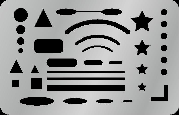 ステンレス製字消し板のイラスト