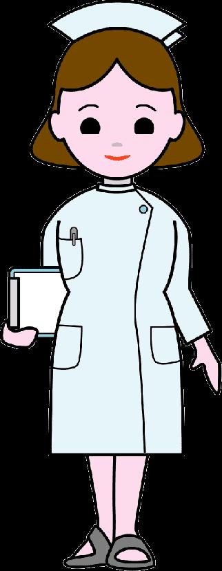チャーミングな女性看護師さんのイラスト