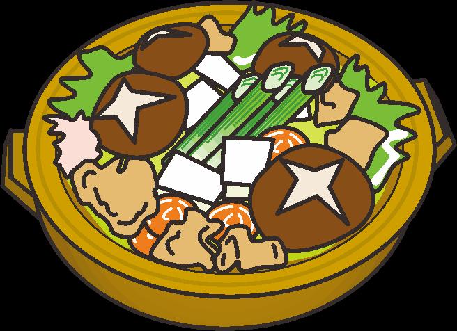寒くなると人気が出る温かい土鍋料理のイラスト