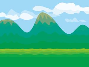 夏の山並み
