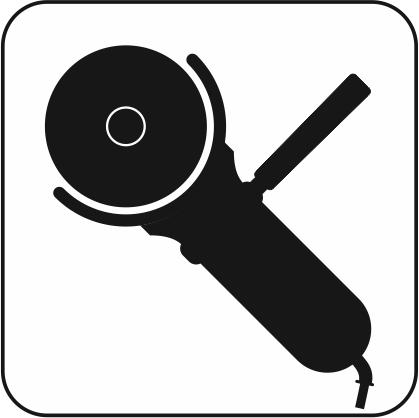 ディスクグラインダーのアイコン