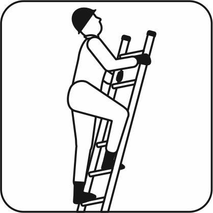 ハシゴに登っている作業員のアイコン画像