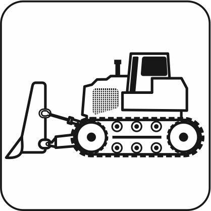 大型ブルドーザーのアイコン画像