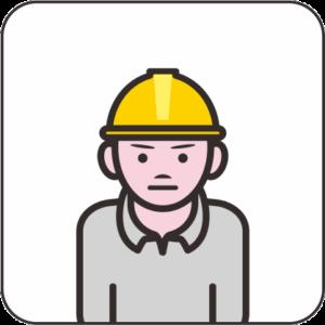 工事現場作業員のアイコン