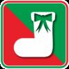クリスマスプレゼントを入れる靴下のカラーアイコン画像