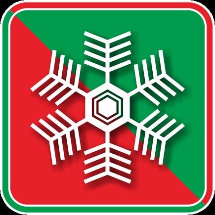 雪の結晶のカラーアイコン画像