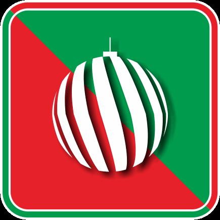 クリスマスツリーを飾るオーナメントボールのカラーアイコン画像