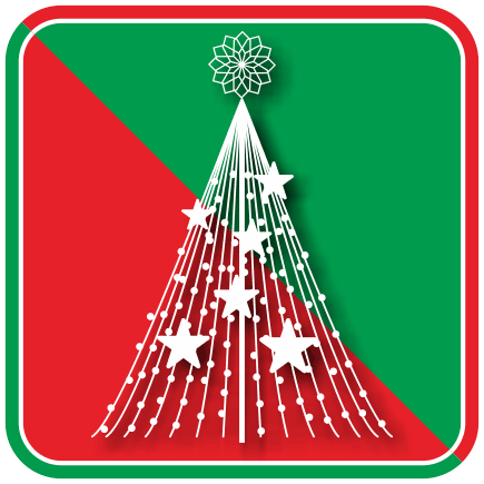 クリスマスのイルミナーションのアイコン画像