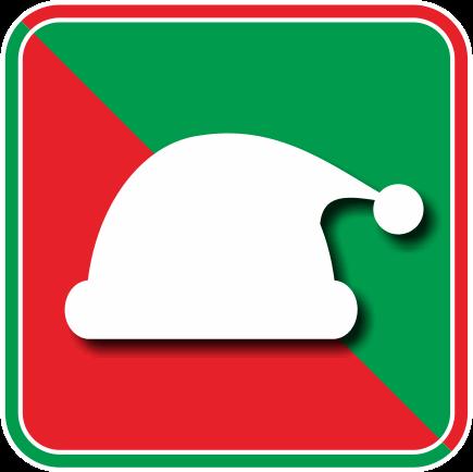 サンタクロースの帽子のアイコン画像