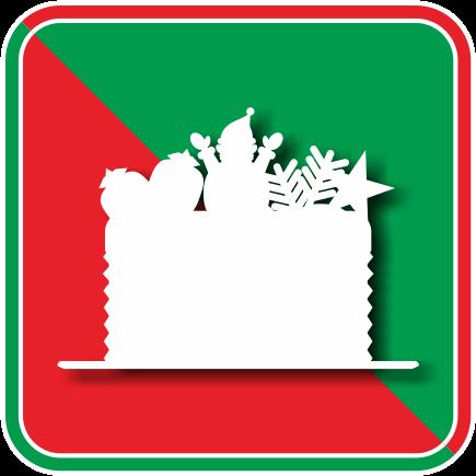 ボリュームたっぷりのクリスマスのデコレーションケーキのアイコン画像