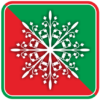 クリスマスオーナメントの草模様のアイコン画像