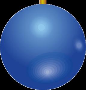 紺色のクリスマスボールのイラスト画像