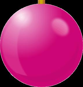 ピンク色のクリスマスボールのイラスト画像