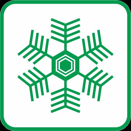 雪の結晶の単色アイコン画像