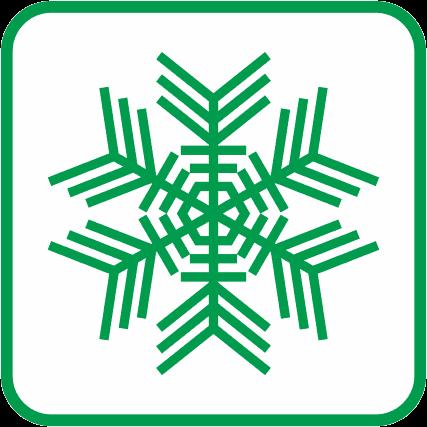 雪の結晶の単色アイコン画像02