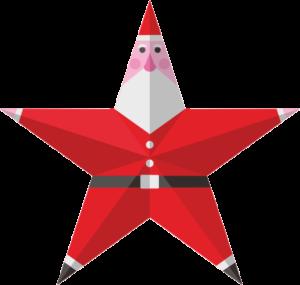 星型サンタクロースのイラスト画像