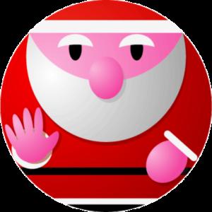 球形サンタクロースのイラスト画像