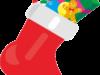 クリスマスプレゼント用靴下のイラスト画像