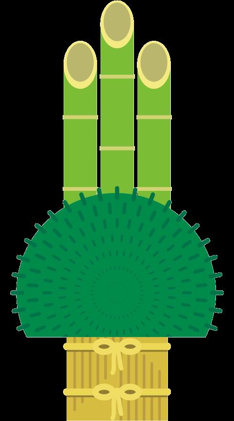 竹と松だけの簡易な門松のイラスト