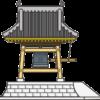 入母屋造りの鐘撞堂のイラスト