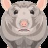 貫禄のあるネズミのイラスト画像