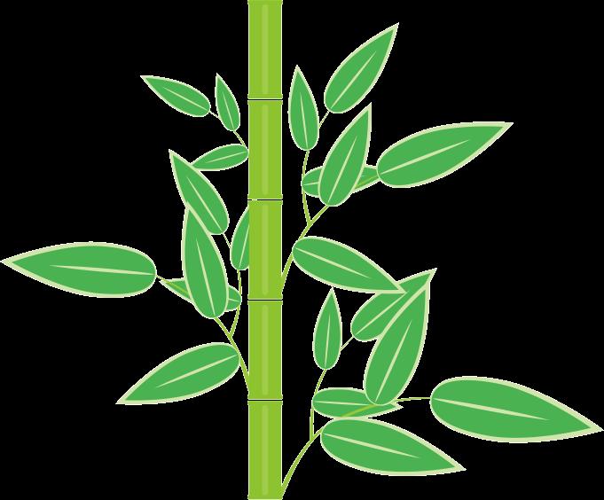 正月の縁起物である竹のイラスト