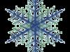 樹枝状雪の結晶の架空イラスト