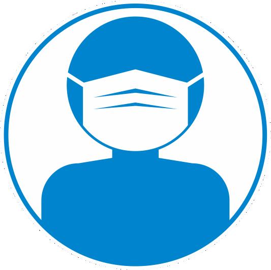 マスクの着用を促すピクトグラム