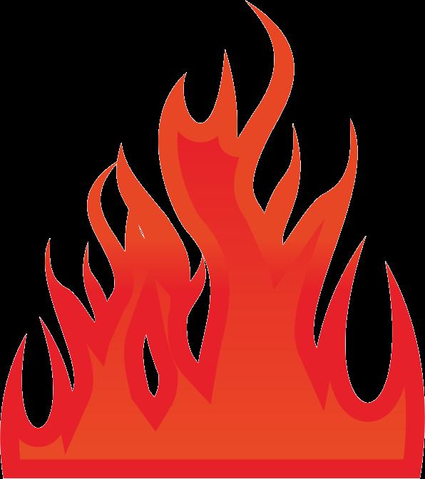 燃え広がっている炎のイラスト