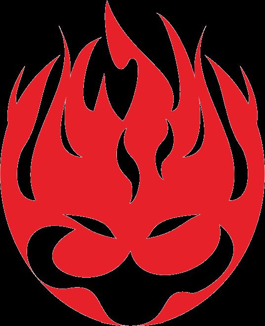 邪悪な顔の炎のイラスト