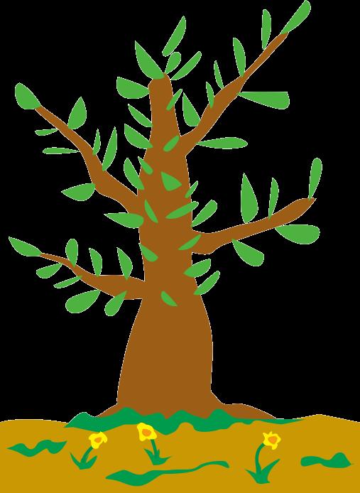 子どもが描いたような木のイラスト