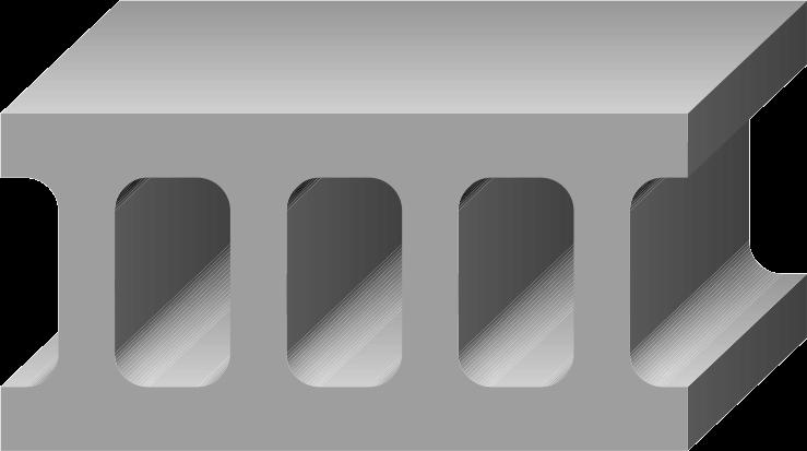 穴あきコンクリートブロックのイラスト
