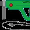 緑色の電動ドリルのイラスト