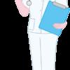 患者を検査へ案内する女性看護師のイラスト