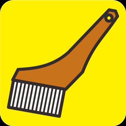 塗装用筋交い刷毛のカラーアイコン画像