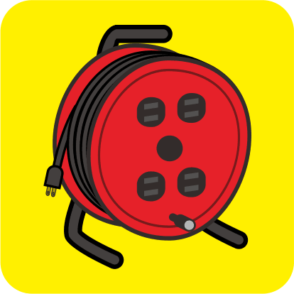 ドラムと呼ばれているコードリールのカラーアイコン画像