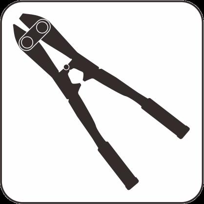 ボルトクリッパのモノクロアイコン画像