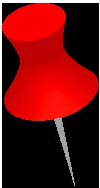 赤いダルマ画鋲のイラスト画像