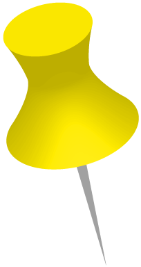 黄色いダルマ画鋲のイラスト画像