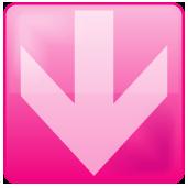 ピンク色のアクア風矢印アイコン画像