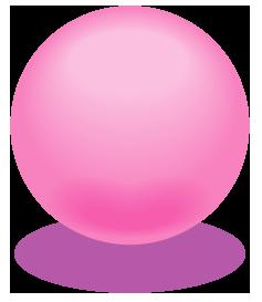 ピンク色のアクアボールのワンポイントイラスト画像
