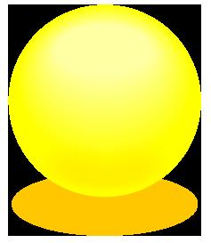 黄色のアクアボールのワンポイントイラスト画像
