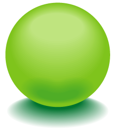 緑色のアクアボールのワンポイントイラスト画像