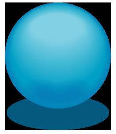 青色のアクアボールのワンポイントイラスト画像