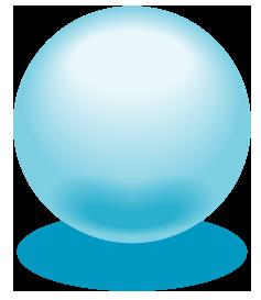 水色のアクアボールのワンポイントイラスト画像