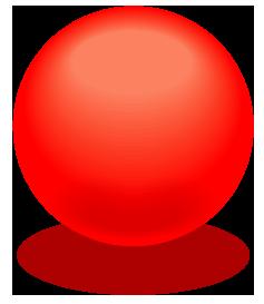 赤色のアクアボールのワンポイントイラスト画像
