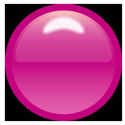 紫色を基調としたアクアボタンのワンポイントイラスト画像