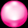 ピンク色を基調としたガラス玉のワンポイントイラスト画像